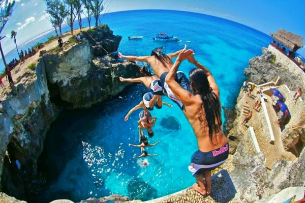 Cliff diving the world above and beyond travel - Highest cliff dive ...