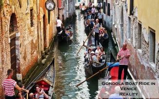 Gondola Boat Ride in Venice Reality