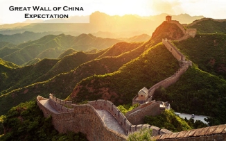 Great wall of China Expectation